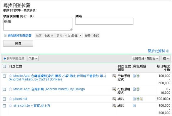 Google刊登位置工具:可查詢Google廣告聯播網的刊登位置